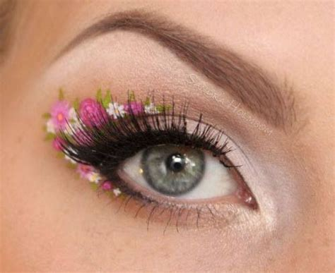 coolest floral makeup