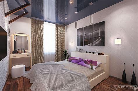 purple blue white bedroom interior design ideas