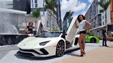 hot cars hot girls lamborghini miami supercar paradise