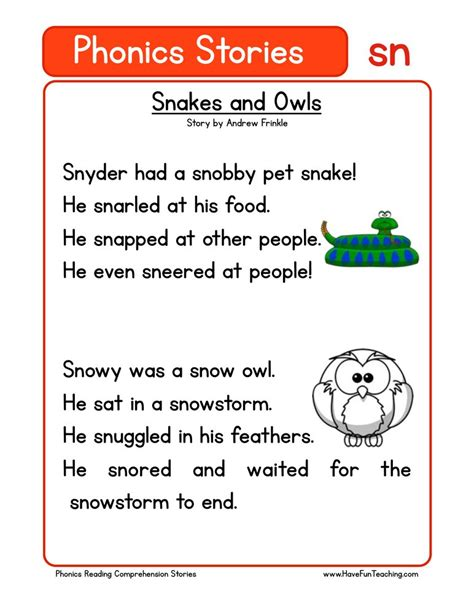 reading comprehension worksheets have fun teaching