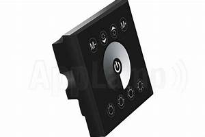 Led Touch Dimmer : led strip recessed wall dimmer touch panel 12 24v black applamp ~ Frokenaadalensverden.com Haus und Dekorationen