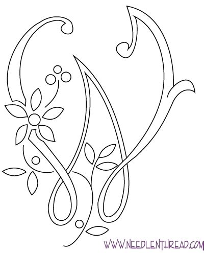 letter embroidery pattern   patterns