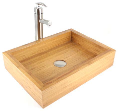 irenic bamboo countertop bathroom lavatory vessel sink modern bathroom sinks by emodern