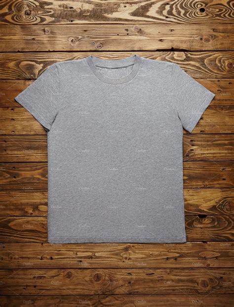blank grey  shirt mockup set technology