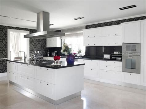 white kitchen dark counters 36 inspiring kitchens with white cabinets and dark granite 304 | White Cabinets Dark Granite04