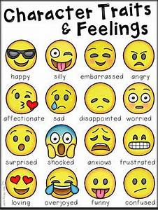 How Are You Feeling Emoji Chart Character Traits And Feelings Emoji Edition By Kraus In