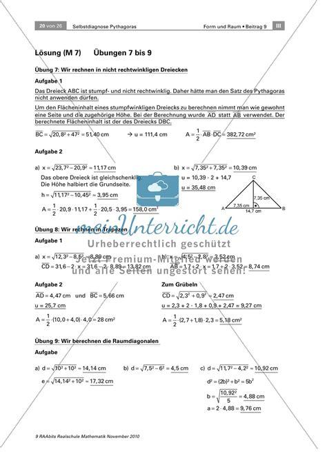 alltagsrelevante uebungen zum satz des pythagoras
