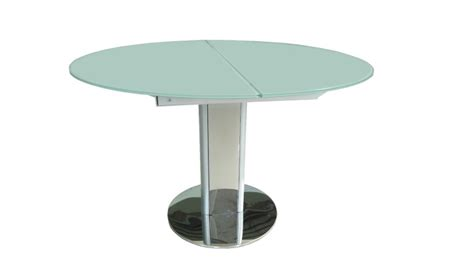 table de cuisine blanche avec rallonge table contemporaine en verre découvrez la table damasia
