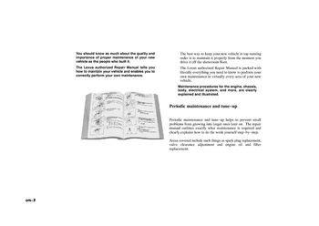 best car repair manuals 2006 lexus es electronic toll collection 2006 lexus es330 repair manual information pdf 2 pages