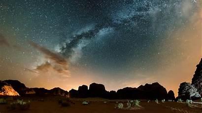 Rum Wadi Desert Jordan Night Way Milky