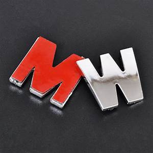 40x 3d diy metallic alphabet number stickers car emblem With car letter decals