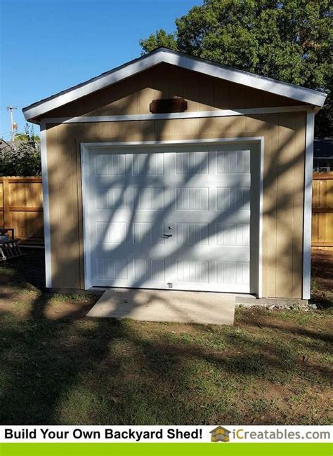 Make building a shed easy with these 16x20 shed plans #