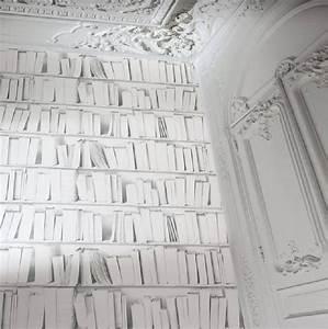 Carta Da Parati in Vinile Effetto Vera Libreria Bianco E Nero Mod J43090 eBay