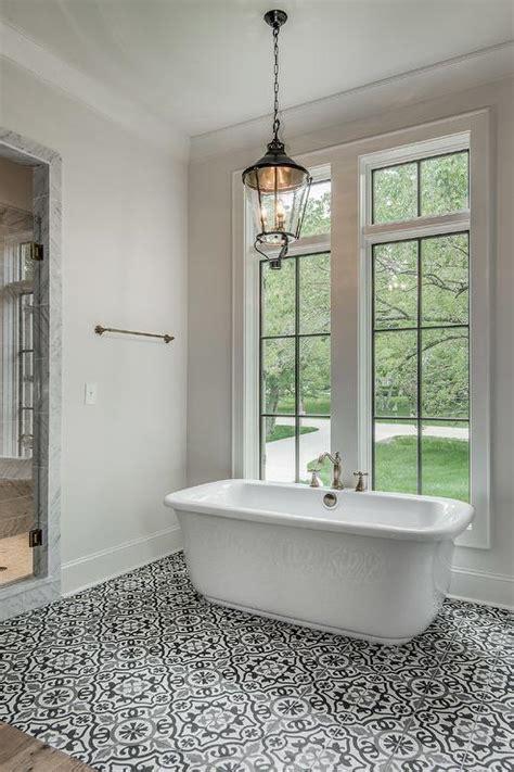 charming mosaic bathroom floor tile ideas black and