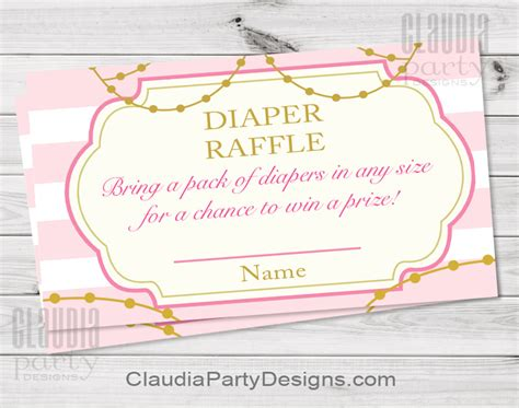 princess baby shower diaper raffle  royal