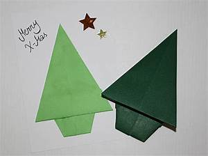 Tannenbaum Falten Anleitung : origami tannenbaum falten ~ Lizthompson.info Haus und Dekorationen