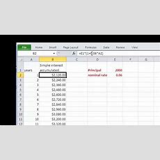 Simple And Compound Interest Schedules In Excel Part I