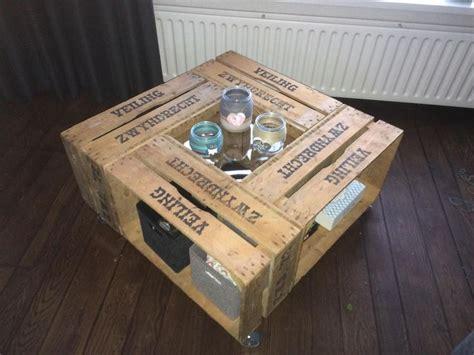 salontafel fruitkistjes salontafel van veilingkisten houten kratten en