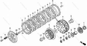 Honda Motorcycle 1998 Oem Parts Diagram For Clutch