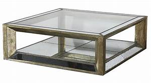 old style square mirrored coffee table with reclaimed With mirrored coffee table with storage