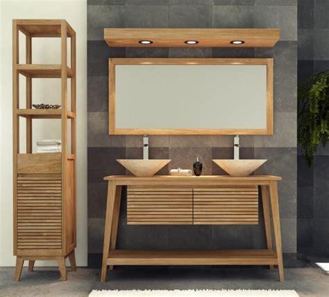 achat meuble de salle de bain taneti walk meuble en teck vasque salle de bain