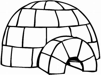 Igloo Coloring Pages Drawing Draw Clip Clipart