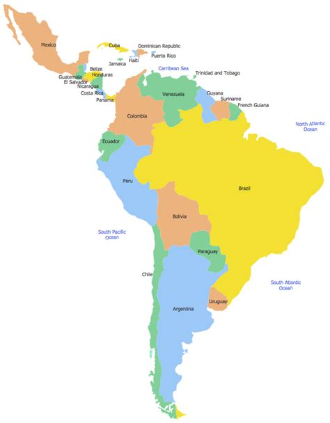 geo map south america mexico