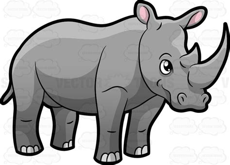 Cartoon Rhino Clip Art
