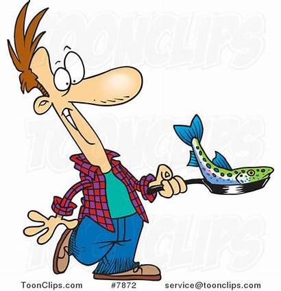 Fish Cartoon Frying Fry Guy Leishman Sensational