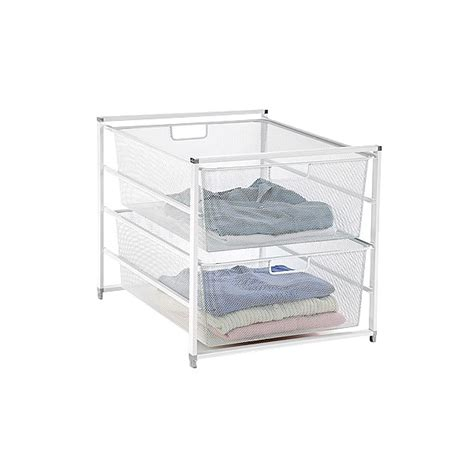 white elfa mesh 2 drawer unit the container store