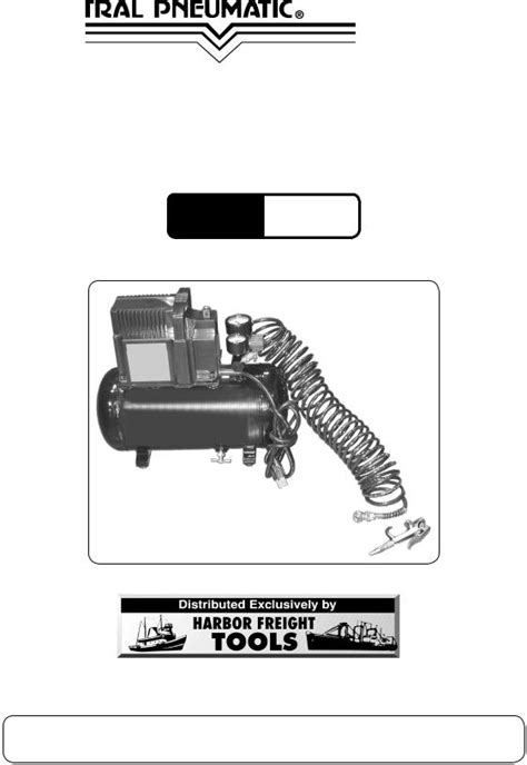 Harbor Freight Tools CENTRAL PNEUMATIC 47407 User Manual