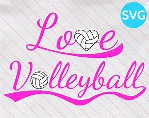 Love, Volleyball, Svg, Design