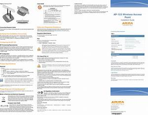 Aruba Networks Apin0103 Wireless Access Point User Manual