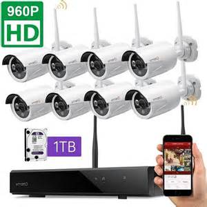 Dream Liner WiFi Booster] xmartO WOS1388 8 Channel 960p HD Wireless Security Camera System with 8 HD Outdoor Wireless IP Cameras (Auto-Pair, Built-in Router, 1.3MP Camera, No HDD)