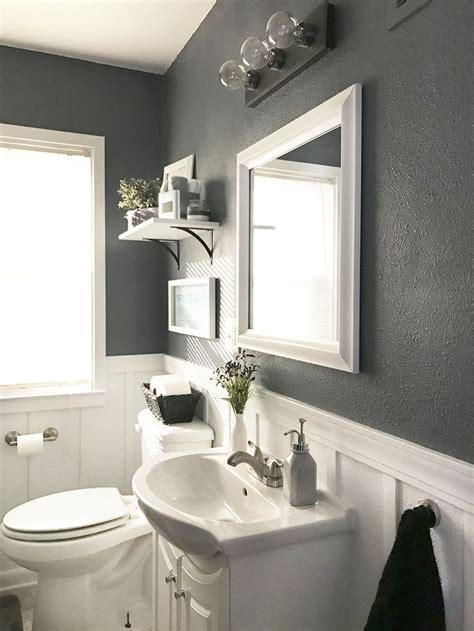 neutral calm bathroom reveal bathrooms