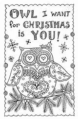 Coloring Cards Adult Colouring Owl Printable Pack Artist Adults Instant Xmas Advanced Volwassenen Sheets Owls Animal Chubbymermaid Mandalas Disney Doodle sketch template