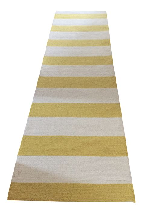 yellow striped rug nu loom yellow white striped rug 3 6 215 10 chairish
