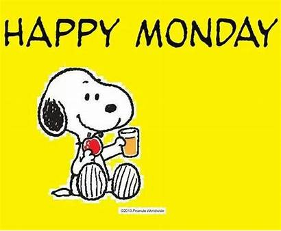 Monday Snoopy Happy Clipart Peanuts Charlie Brown
