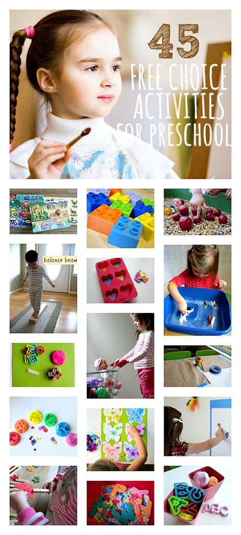 45 great free choice activities for preschool use at 812 | free choice activities for preschool