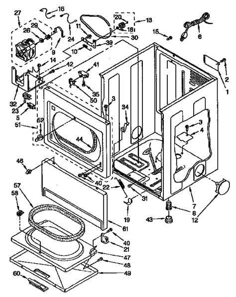 kenmore gas dryer parts 11097583810 sears partsdirect