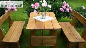 Gartentisch Selber Bauen Holz : gartenm bel aus holz massiv youtube ~ Watch28wear.com Haus und Dekorationen