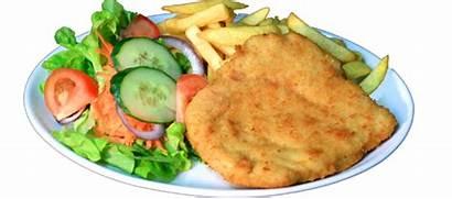 Schnitzel Chicken Dinner Meals Crossroads Chips Sausage