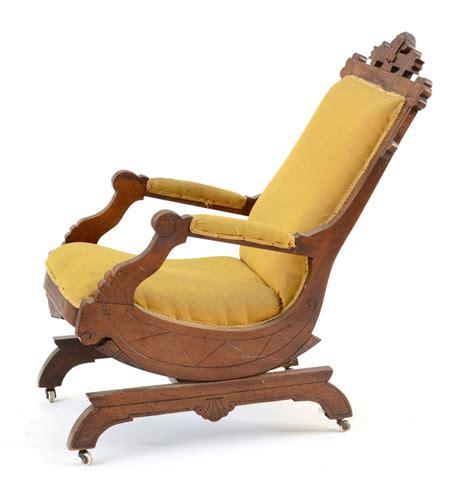 antique eastlake walnut platform rocker chair ebth