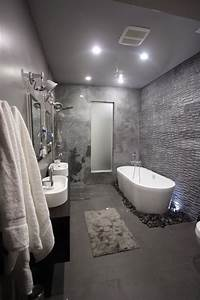 Cool and sophisticated designs for gray bathrooms for Grey bathroom