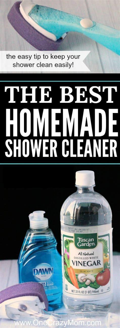 homemade shower cleaner  shower cleaner