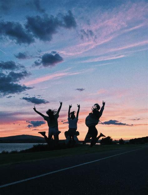 besties bestfriends skies sky sunset views summer