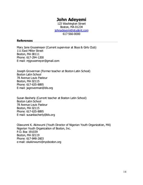 Boy Resume by Teenlife Guide To Writing Resumes