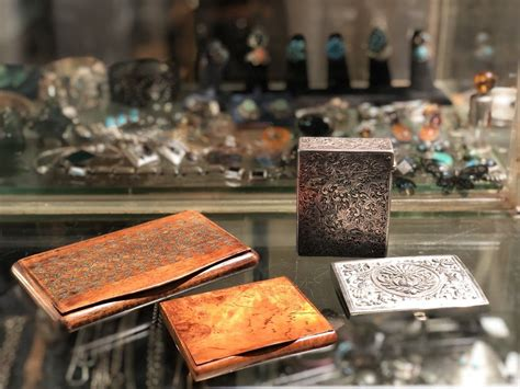 medium wood  sterling boxes country garden antiques