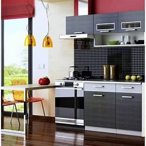Meuble Cuisine Noir : meuble cuisine 1m60 achat vente pas cher ~ Melissatoandfro.com Idées de Décoration