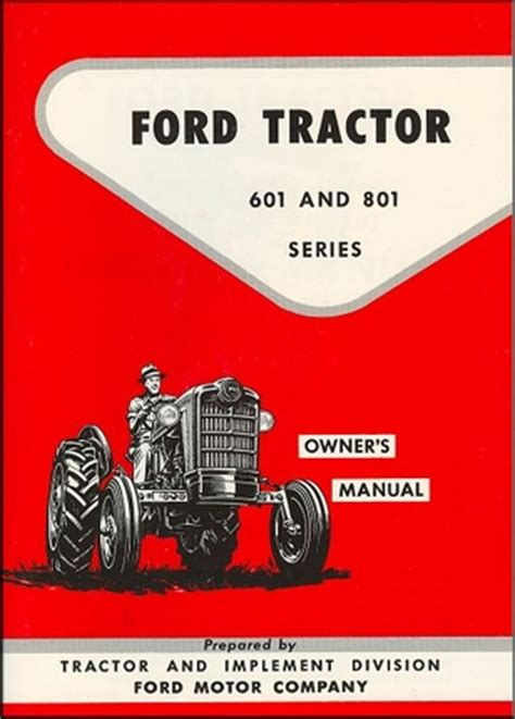 ford tractor series    owners manual